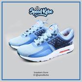 NIKE 休閒鞋 Max Zero 藍白黑 網布 反光 慢跑 男 876070-400【Speedkobe】