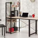 【森可家居】塔利斯L型鐵架書桌 8CM877-3 含書架 工業風