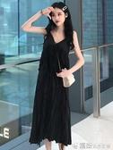 夏季韓版蕾絲吊帶洋裝女裝無袖中長款裙子學生過膝長裙