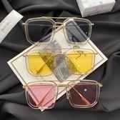 韓版新款大框復古墨鏡女潮街拍前衛網紅太陽眼鏡男ins超火的眼鏡 韓國時尚週