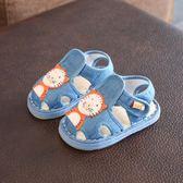 桃園百貨 嬰兒手工布鞋子夏季1-2-3歲男寶寶千層底涼鞋
