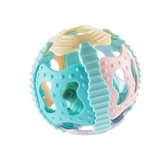 兒童手搖鈴0-3-6-12月寶寶軟膠手抓球玩具0-1歲聲光健身球【週年慶免運八折】