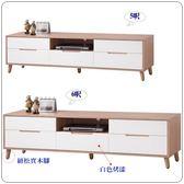 【水晶晶家具/傢俱首選】CX9620-5肯詩特5呎烤白雙色電視櫃(上圖)
