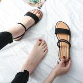 沙灘鞋涼鞋女夏季平底簡約學生百搭一鞋兩穿羅馬外穿 愛麗絲精品