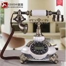 幸福居*GDIDS 仿古電話機 時尚創意複古電話機 固定電話歐式家用現代座機