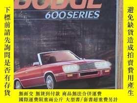 二手書博民逛書店1984年罕見美國 道奇 DODGE 600系列 轎車 汽車樣本