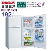 《台灣三洋SANLUX》 192公升雙門電冰箱 SR-B192B