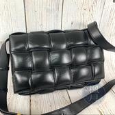 BRAND楓月 Bottega Veneta BV 編織 黑色 枕頭包 側背包 肩背包