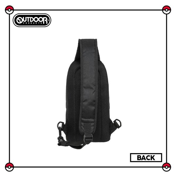 【OUTDOOR】Pokemon聯名款潮黑皮卡丘單肩包-大-黑色 ODGO20B03BK