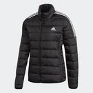 Adidas Essentials Down 女裝 羽絨外套 立領 休閒 保暖 口袋暗扣 黑【運動世界】GH4593
