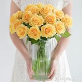 手感保濕仿真玫瑰花束裝飾花絹花干花花束客廳假花仿真花擺件HQM   JSY時尚屋