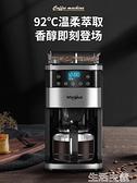 咖啡機 美國惠而浦咖啡機家用美式全自動研磨一體機商用煮茶壺現磨滴漏式 MKS生活主義