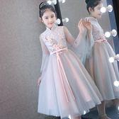 中國風女童婚紗蓬蓬紗兒童生日晚禮服公主裙小花童古箏鋼琴演出服   LannaS