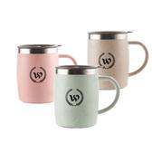 【PUSH!】304不鏽鋼保溫杯帶蓋(420ML北歐綠一入)E102-2