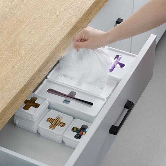 紙巾盒 面紙盒 收納盒 大長 抽取式收納盒 整理盒 抽屜收納 十字抽取收納盒【P048】生活家精品