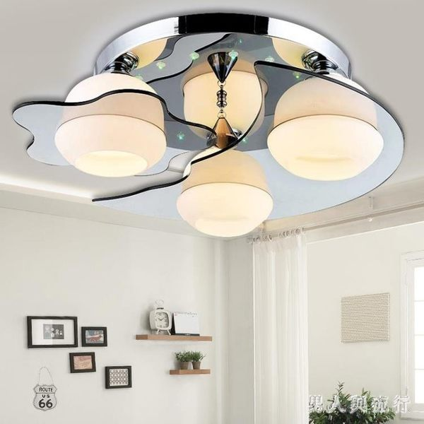 220v 圓形led吸頂燈 簡約現代臥室燈溫馨房間客廳燈具陽臺燈調光 DR19812【男人與流行】