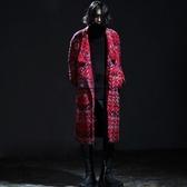 風衣外套-歐美時尚加棉保暖毛呢長版翻領男大衣2色73ip47【時尚巴黎】
