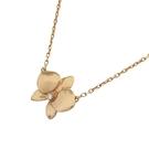 Cartier 卡地亞 Caresse d Orchidées Par 18K玫瑰金鑲鑽蘭花墜飾項鍊【BRAND OFF】