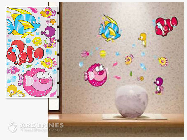【ARDENNES】創意組合DIY壁貼/牆貼/兒童教室佈置 快樂小魚