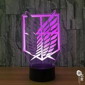 定制3D燈 七彩遙控觸摸 新奇特創意產品led燈小夜燈617【韓衣舍】