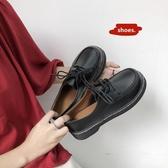 娃娃鞋 日系復古女平底單鞋學生原宿圓頭娃娃鞋百搭韓版學院風英倫小皮鞋