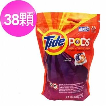 Tide洗衣凝膠球(38顆)*1+美國Tide洗衣槽清潔劑(75g)*12包