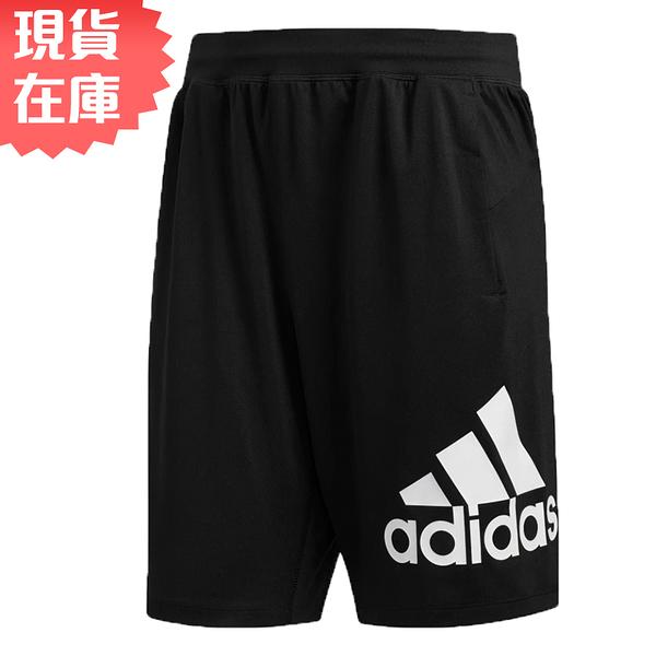 【現貨】Adidas 4KRFT SPORT BADGE 男裝 短褲 慢跑 透氣 排汗 口袋 黑【運動世界】DU1592