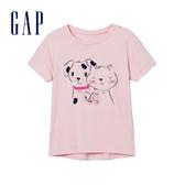 Gap女幼童 妙趣圖案短袖圓領T恤 336716-活潑粉