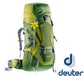德國 deuter ACT Lite 透氣登山大背包 60+10SL『湖綠/綠』 43400【女版】. 登山背包. 60L . 70L