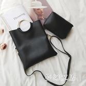 子母包2019新款韓版個性女包折疊手拿包單肩手提包 yu2170『夢幻家居』