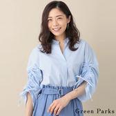 ❖ Hot item ❖ 抓皺袖設計氣質襯衫上衣 - Green Parks