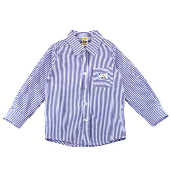 【愛的世界】純棉賽艇薄長袖襯衫/8~12歲-台灣製- ★春夏上著 涼夏推薦