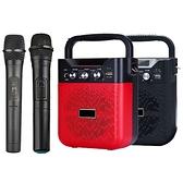 大聲公巧雅型無線式多功能手提行動音箱/喇叭 (雙手持麥克風組)