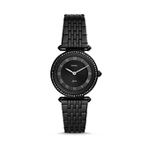 【Fossil】Lyric詩意流韻晶鑽時尚鋼帶腕錶-晶鑽黑/ES4713/台灣總代理公司貨享兩年保固
