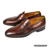 【MAGNANNI】時尚樂福紳士皮鞋 咖啡(13436-BR)