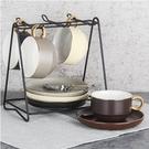 杯子套裝 四福 歐式咖啡杯套裝小奢華 陶瓷下午茶茶具套裝英式下午茶杯 暖心生活館