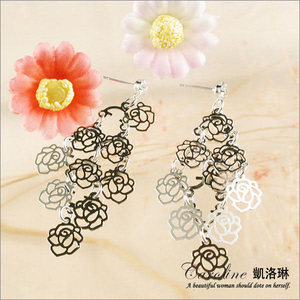 《Caroline》★韓國進口奧地利施華洛世奇水晶流行時尚耳環38309