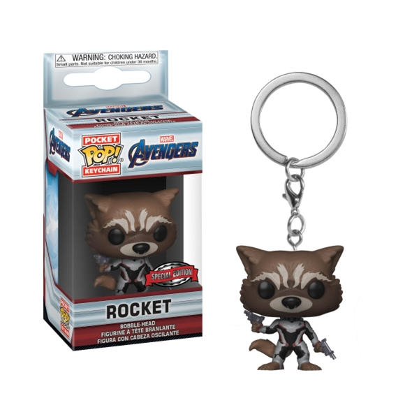 【 Funko 】  POP!系列 POP鑰匙圈 復仇者聯盟:終局之戰 - 火箭浣熊 限定╭★ JOYBUS玩具百貨