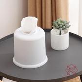 簡約紙巾盒家用桌面圓形餐巾紙收納盒卷紙抽紙盒【櫻田川島】