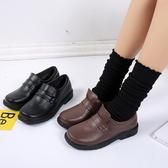 圓頭日系制服鞋學院風cos黑棕色JK女平跟舒適小皮鞋