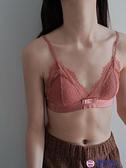 買一送一 小胸A罩杯B罩Bra本命年紅色鏤空蕾絲少女文胸內衣薄款蝴蝶結胸罩內搭品牌【櫻桃】