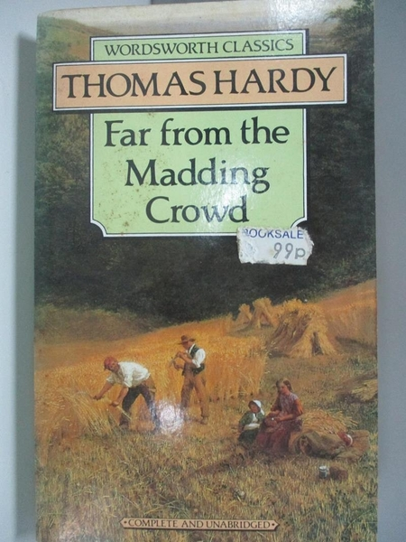 【書寶二手書T1/原文小說_AEF】Far from the Madding Crowd_Hardy, Thomas