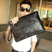 男手拿包  潮流街頭韓版男格子手拿包 文件包 時尚手包 商務休閒信封包新款 快速出貨