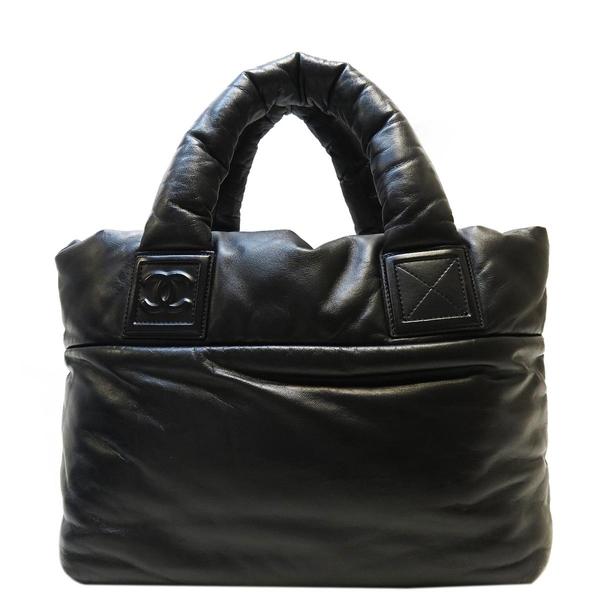 CHANEL 香奈兒 黑色羊皮手提肩背包 空氣包 Coco Cocoon Tote Handbag 【BRAND OFF】
