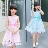 女童洋裝 童裝兒童裙子女童連身裙2020夏裝新款公主裙純棉棉布裙碎花背心裙 薇薇