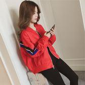 登山外套 春季韓版學生bf寬鬆百搭夾克衫外套春秋棒球服女個性短款