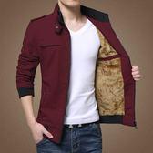 店長推薦▶外套男休閒帥氣加絨加厚上衣男士夾克