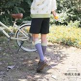 小腿襪經典立體菱形格時尚百搭復古潮流女長筒及膝【時尚大衣櫥】