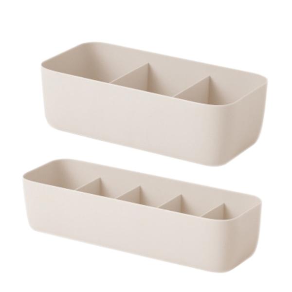 三格杏色款 北歐貼身衣物抽屜分隔收納盒 衣物收納盒 置物盒 收納盒 整理盒 【H1180】