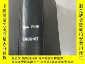 二手書博民逛書店NITROGEN罕見Nos 39-50 1966-67 氮Y21